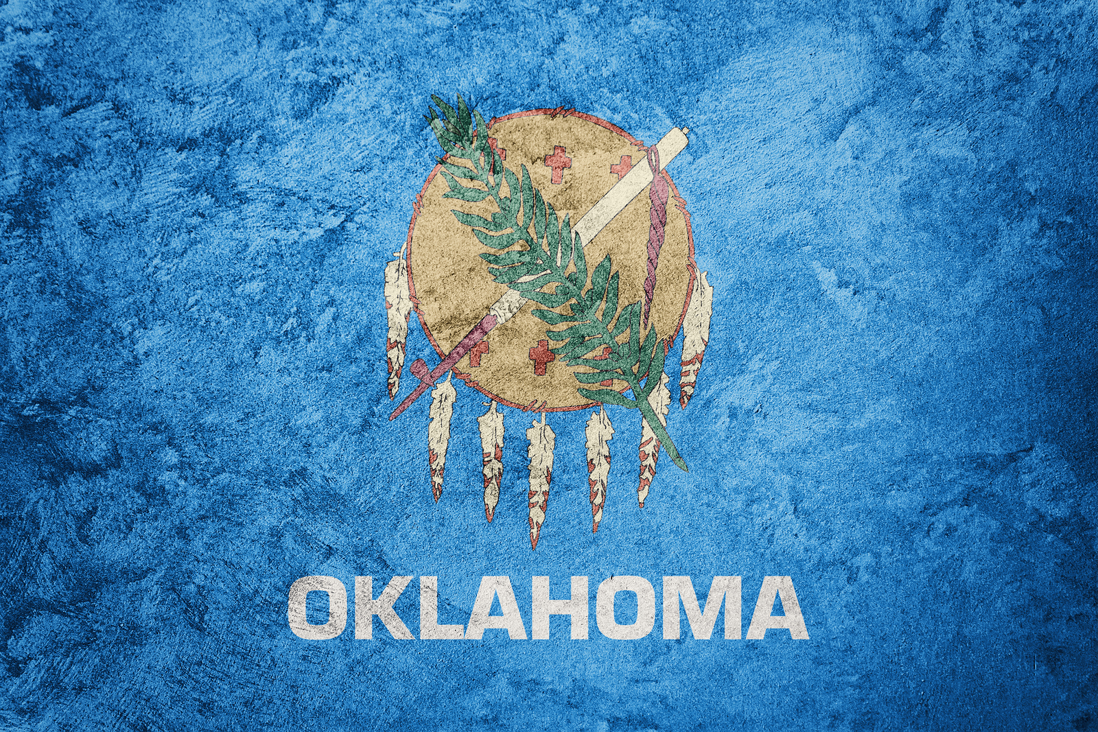 Grunge Oklahoma State Flag Oklahoma Flag Background